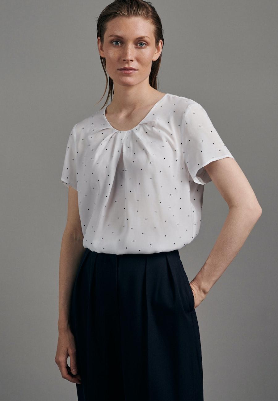Short sleeve Voile Shirt Blouse made of 100% Viscose in White |  Seidensticker Onlineshop