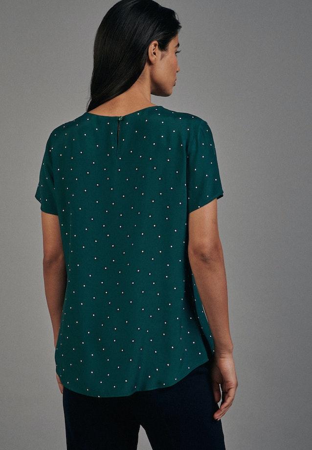 Short sleeve Voile Shirt Blouse made of 100% Viscose in Green    Seidensticker Onlineshop