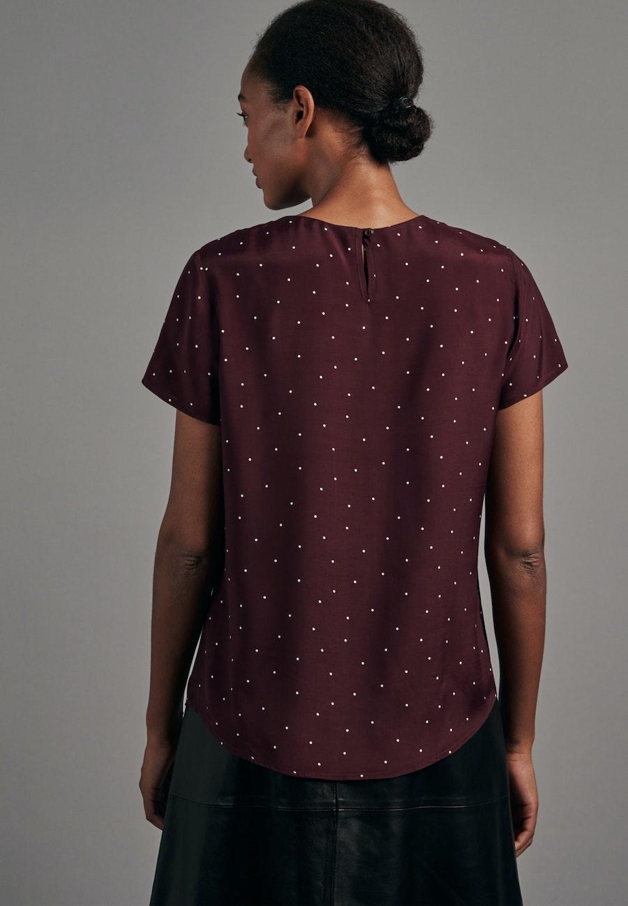 Short sleeve Voile Shirt Blouse made of 100% Viscose in Red |  Seidensticker Onlineshop