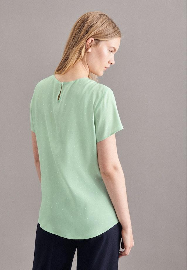 Kurzarm Voile Shirtbluse aus 100% Viskose in Türkis/Petrol |  Seidensticker Onlineshop