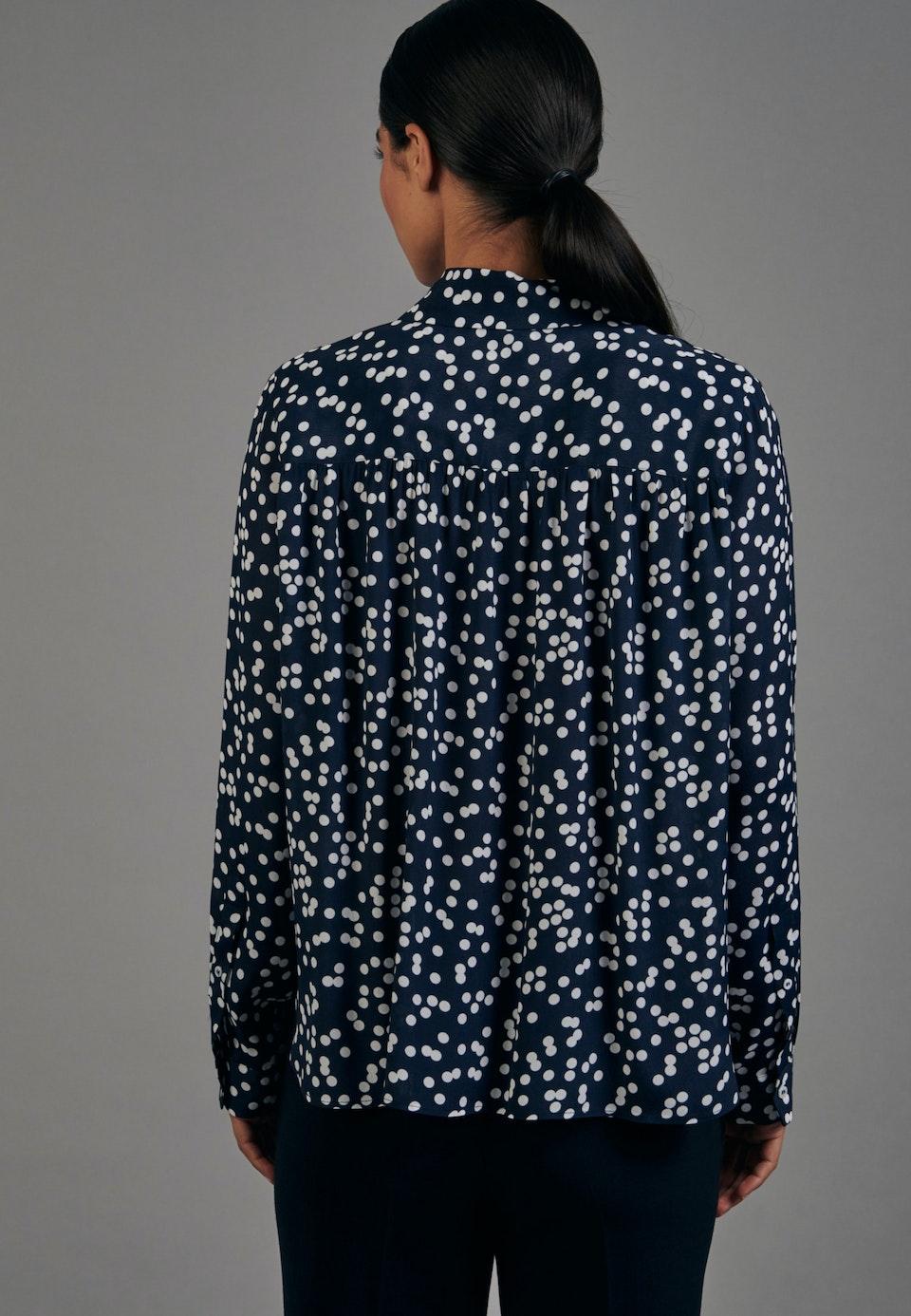 Krepp Shirt Blouse made of 100% Viscose in Dark blue |  Seidensticker Onlineshop
