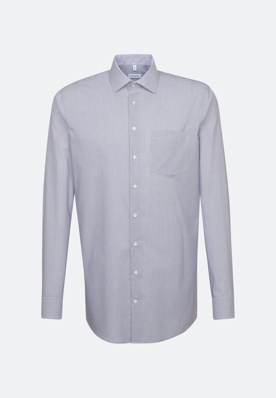 Non-iron Poplin Business Shirt in Regular with Kent-Collar and extra long sleeve in Purple |  Seidensticker Onlineshop