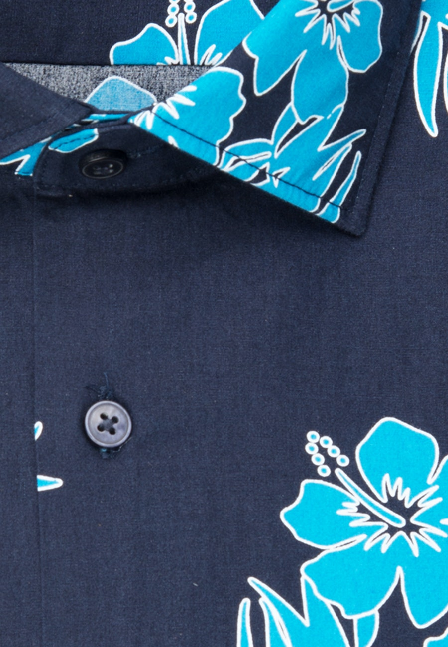 Bügelleichtes Popeline Business Hemd in Regular mit Kentkragen in Türkis/Petrol |  Seidensticker Onlineshop