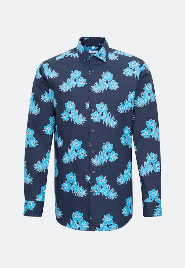Easy-iron Poplin Business Shirt in Regular with Kent-Collar in Turquoise |  Seidensticker Onlineshop