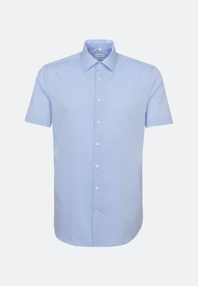 Non-iron Chambray Short sleeve Business Shirt in Shaped with Kent-Collar in Light blue |  Seidensticker Onlineshop