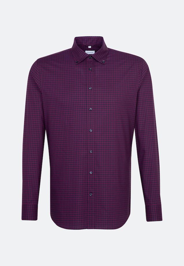 Non-iron Poplin Business Shirt in Shaped with Button-Down-Collar in Pink |  Seidensticker Onlineshop