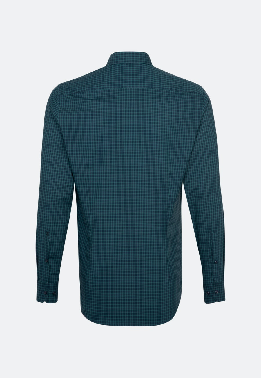 Non-iron Popeline Business Shirt in Shaped with Button-Down-Collar in Green |  Seidensticker Onlineshop