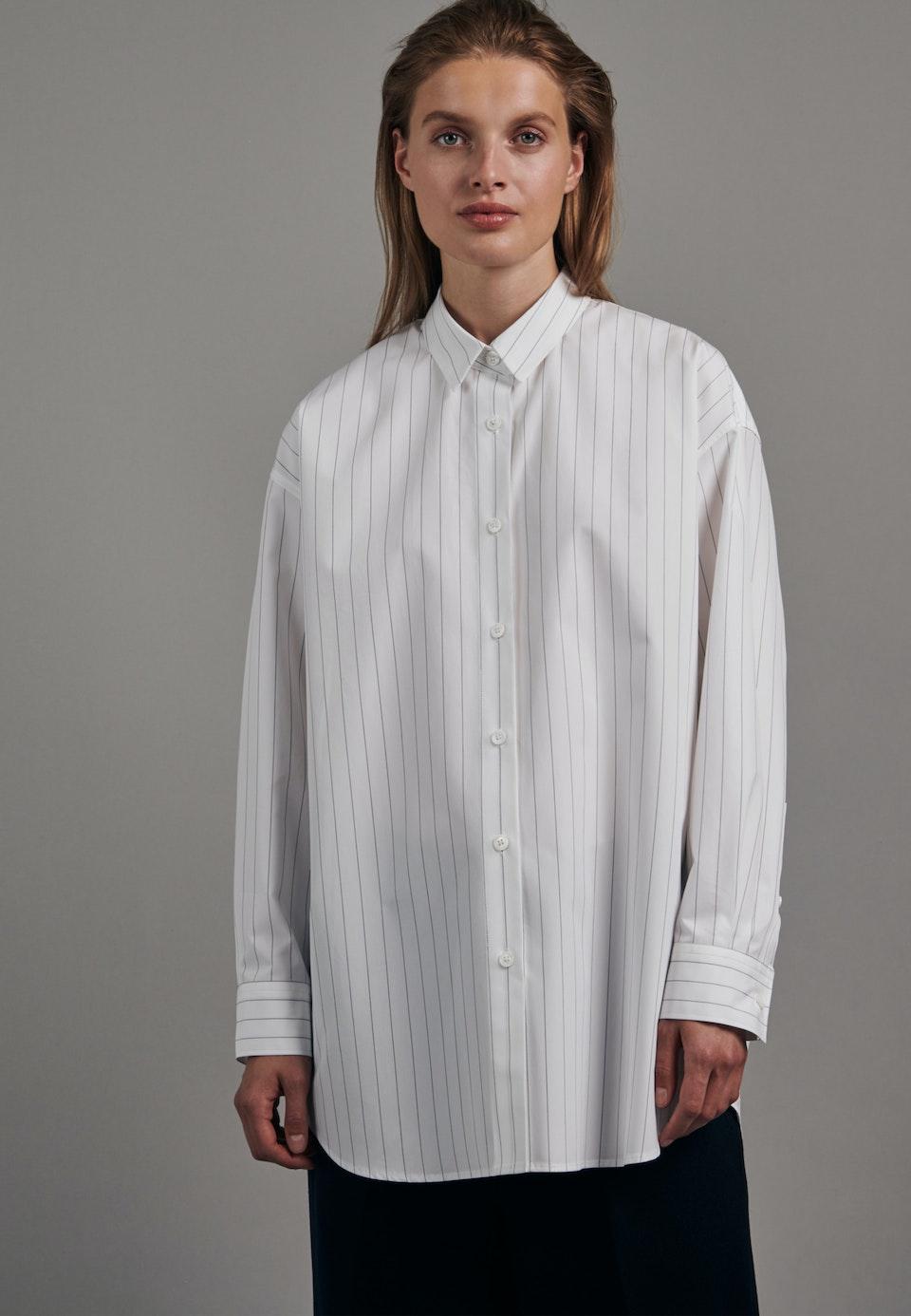 Popeline Long Blouse made of 100% Cotton in White |  Seidensticker Onlineshop