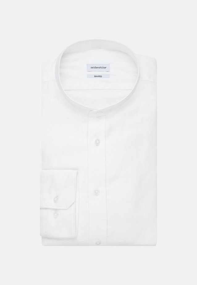 Easy-iron Twill Business Shirt in Shaped with Stand-Up Collar in White    Seidensticker Onlineshop