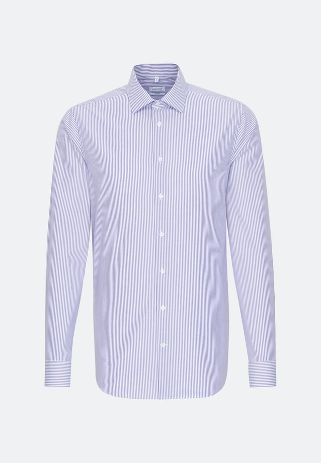 Non-iron Popeline Business Shirt in Shaped with Kent-Collar and extra long sleeve in Purple |  Seidensticker Onlineshop