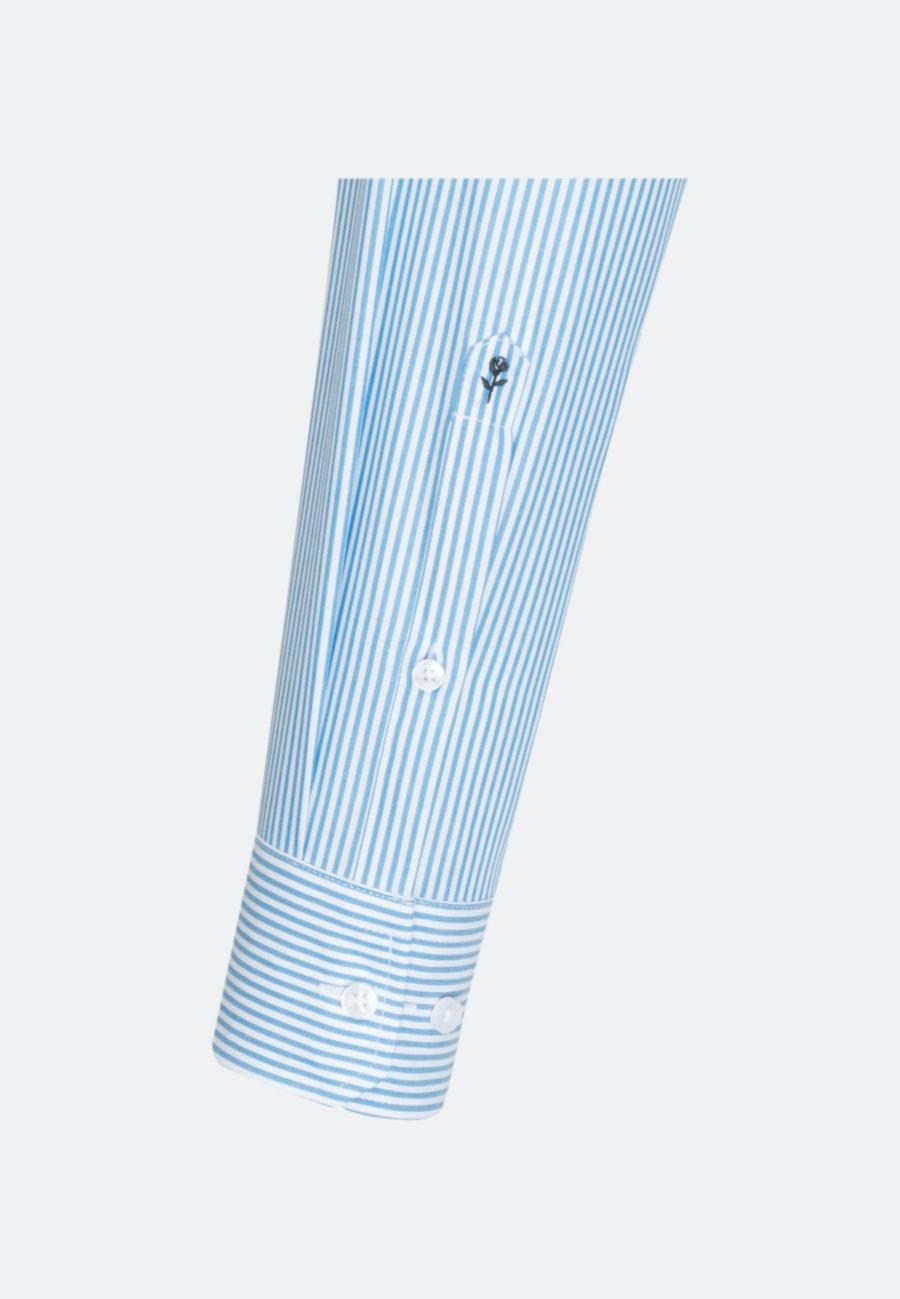 Bügelfreies Popeline Business Hemd in Shaped mit Kentkragen und extra langem Arm in Türkis/Petrol |  Seidensticker Onlineshop