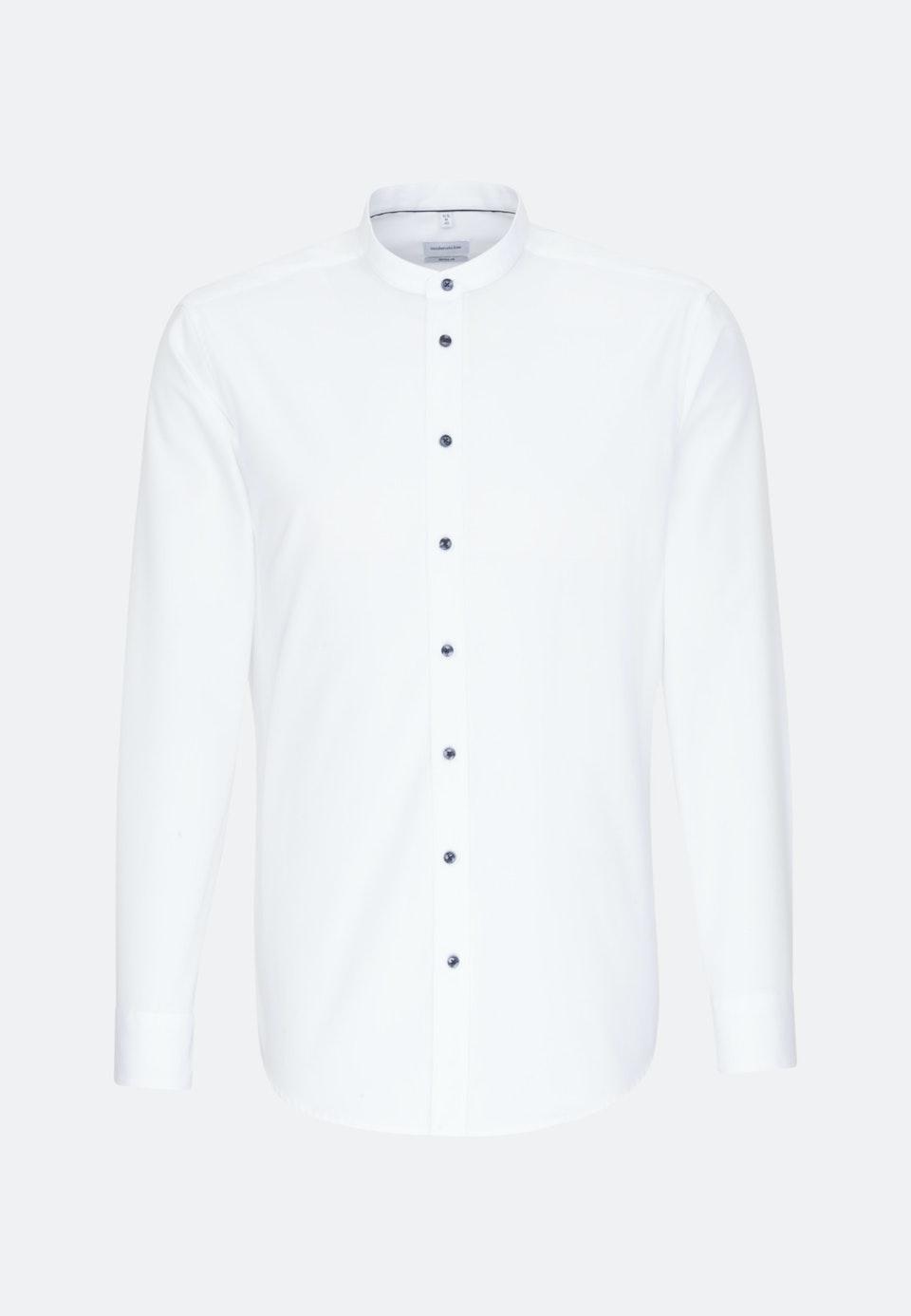 Non-iron Popeline Business Shirt in Regular with Stand-Up Collar in White |  Seidensticker Onlineshop