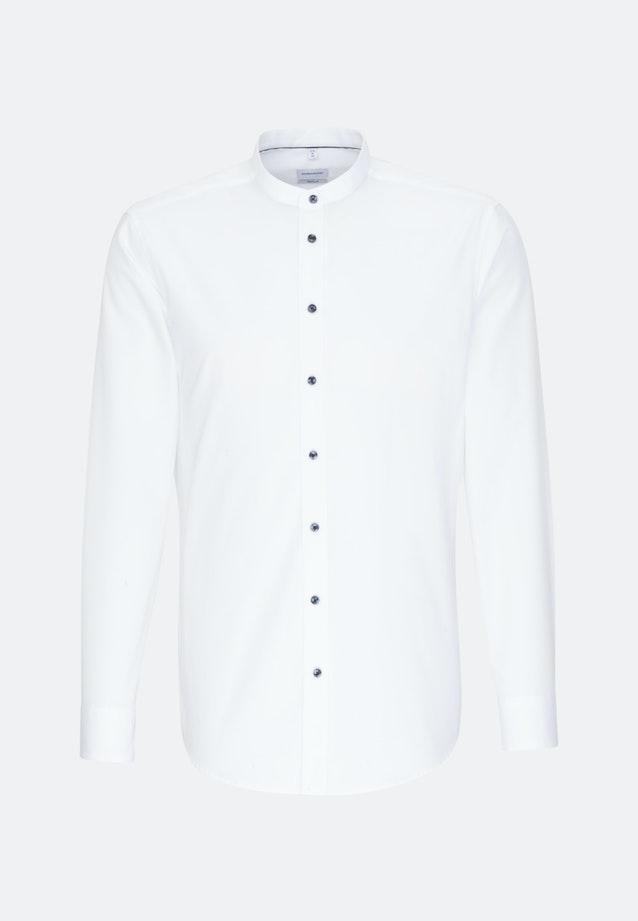 Bügelfreies Popeline Business Hemd in Regular mit Stehkragen in Weiß    Seidensticker Onlineshop