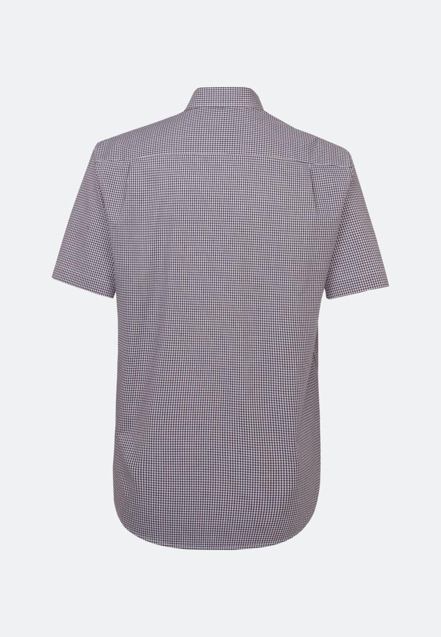 Non-iron Poplin Short sleeve Business Shirt in Comfort with Button-Down-Collar in Red    Seidensticker Onlineshop