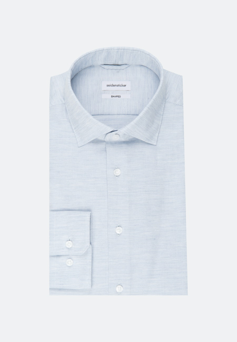 Easy-iron Structure Business Shirt in Shaped with Kent-Collar in Light blue    Seidensticker Onlineshop