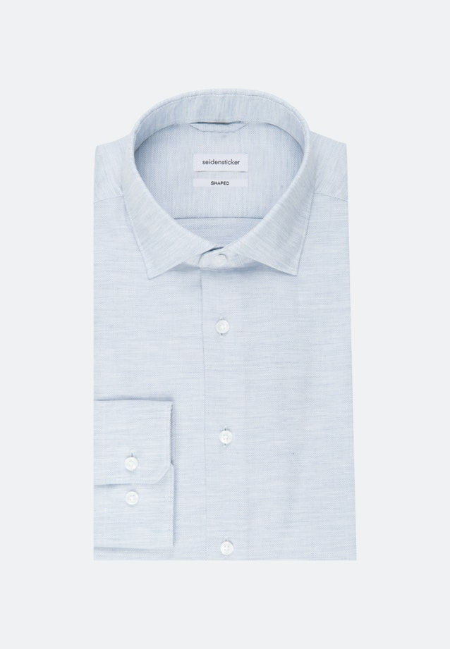 Easy-iron Struktur Business Shirt in Shaped with Kent-Collar in Light blue |  Seidensticker Onlineshop