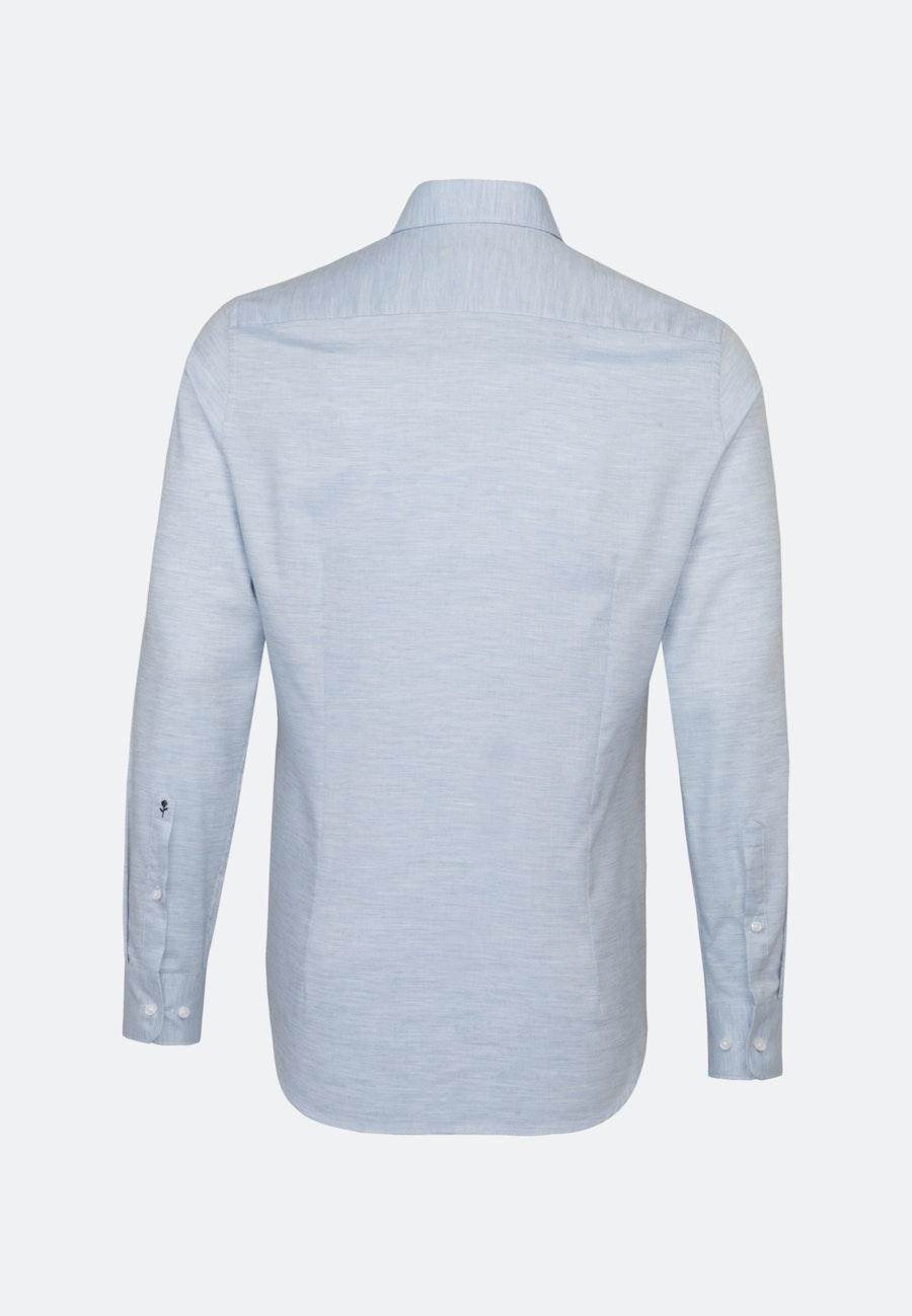 Easy-iron Struktur Business Shirt in Shaped with Kent-Collar in Light blue |  Seidensticker Onlineshop