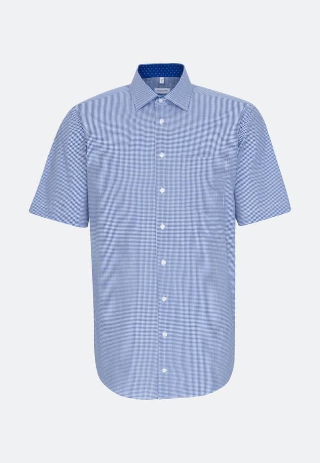 Non-iron Popeline Short sleeve Business Shirt in Comfort with Kent-Collar in Medium blue |  Seidensticker Onlineshop