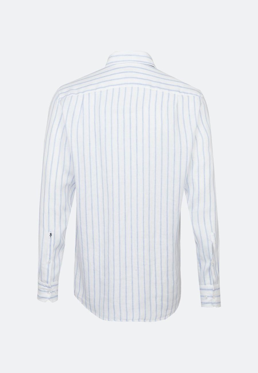 Easy-iron Leinen Business Shirt in Regular with Kent-Collar in Light blue |  Seidensticker Onlineshop