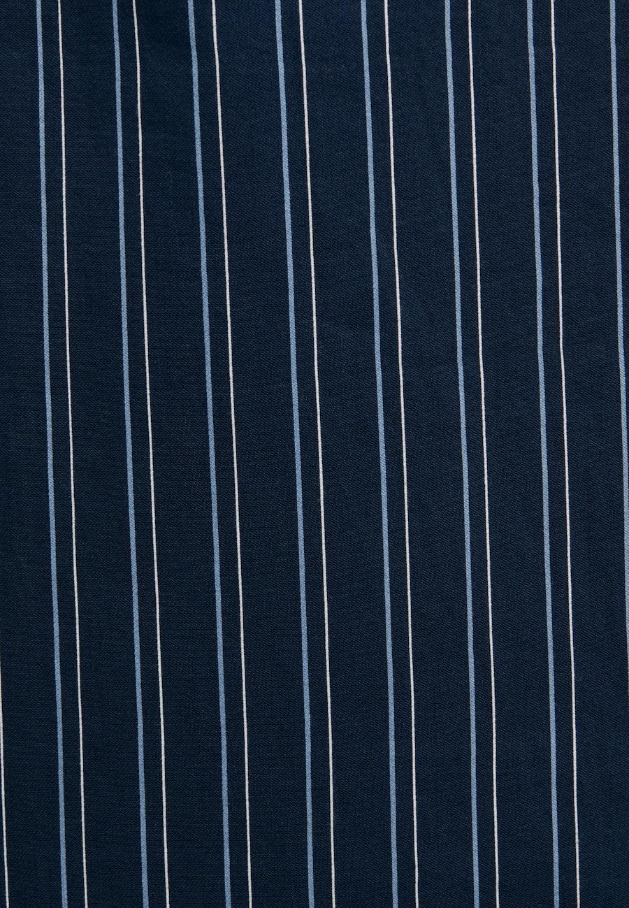 Popeline Maxi Kleid aus Viskosemischung in Dunkelblau |  Seidensticker Onlineshop
