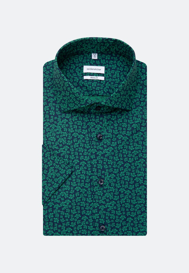 Easy-iron Poplin Short sleeve Business Shirt in Regular with Kent-Collar in Green |  Seidensticker Onlineshop