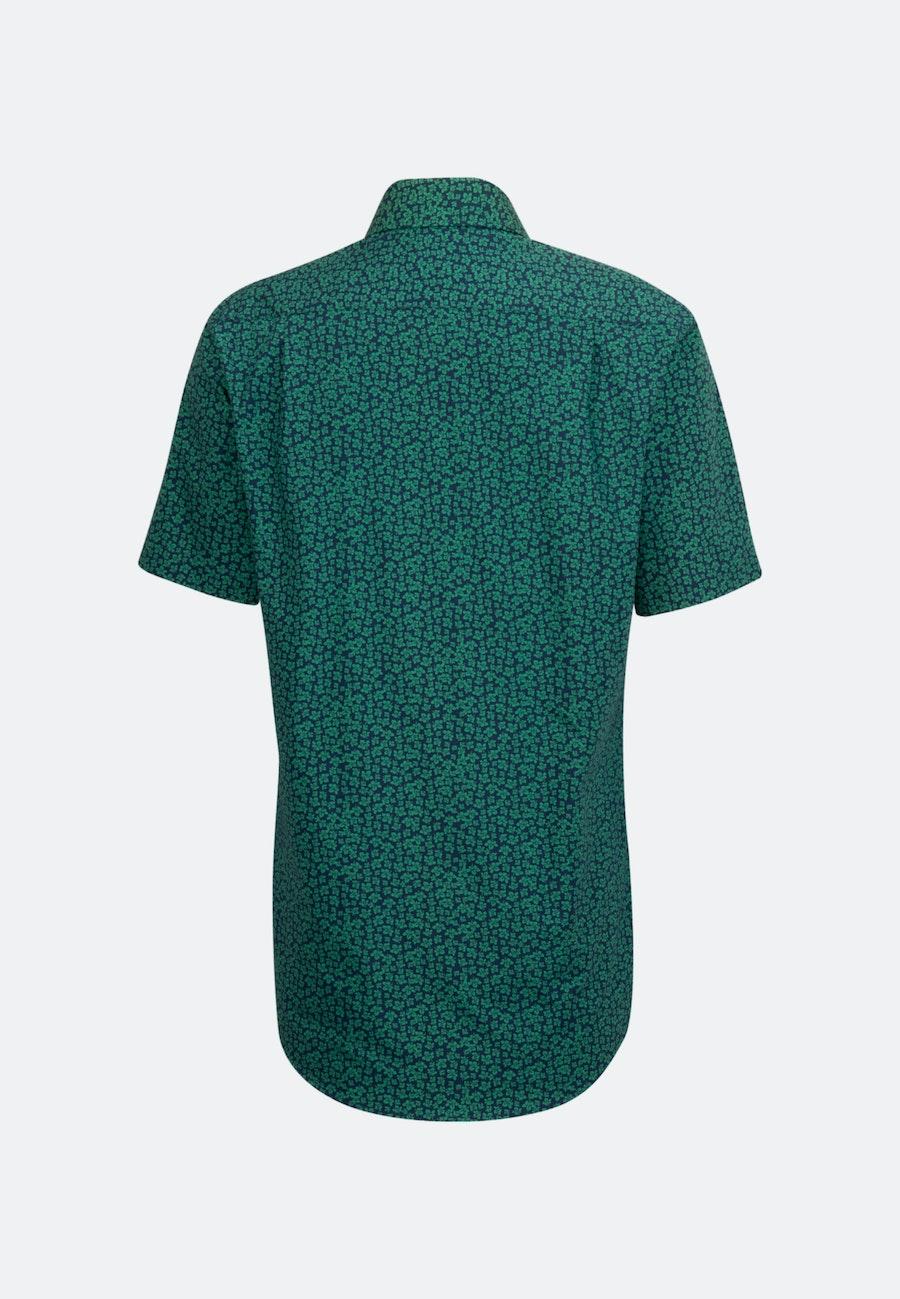 Poplin Short sleeve Business Shirt in Regular with Kent-Collar in Green |  Seidensticker Onlineshop