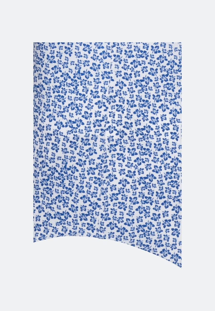 Bügelleichtes Popeline Kurzarm Business Hemd in Shaped mit Kentkragen in Mittelblau |  Seidensticker Onlineshop
