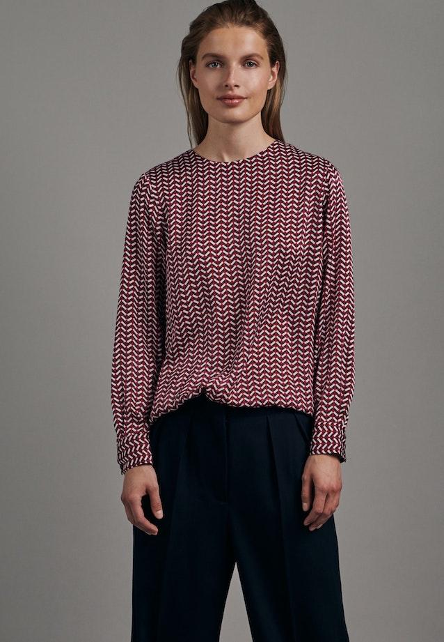 Satin Shirtbluse aus 100% Polyester in Rot |  Seidensticker Onlineshop
