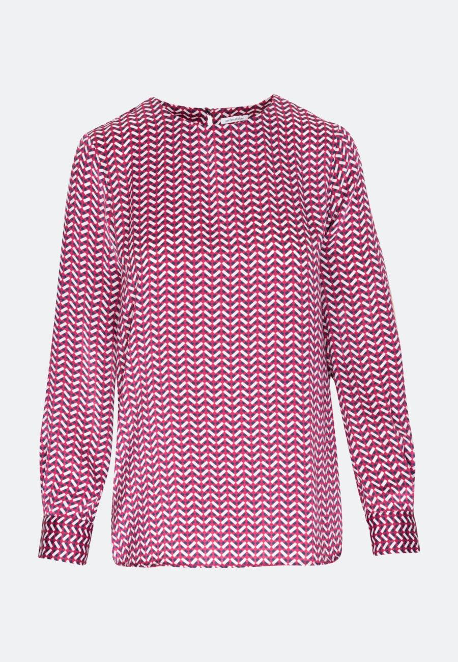 Satin Shirtbluse aus 100% Polyester in Rot    Seidensticker Onlineshop