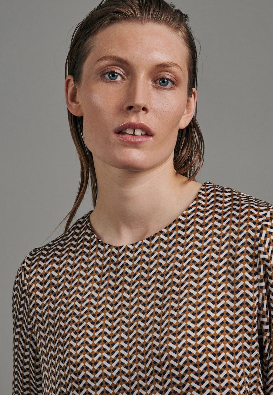Satin Shirt Blouse made of 100% Polyester in Orange |  Seidensticker Onlineshop