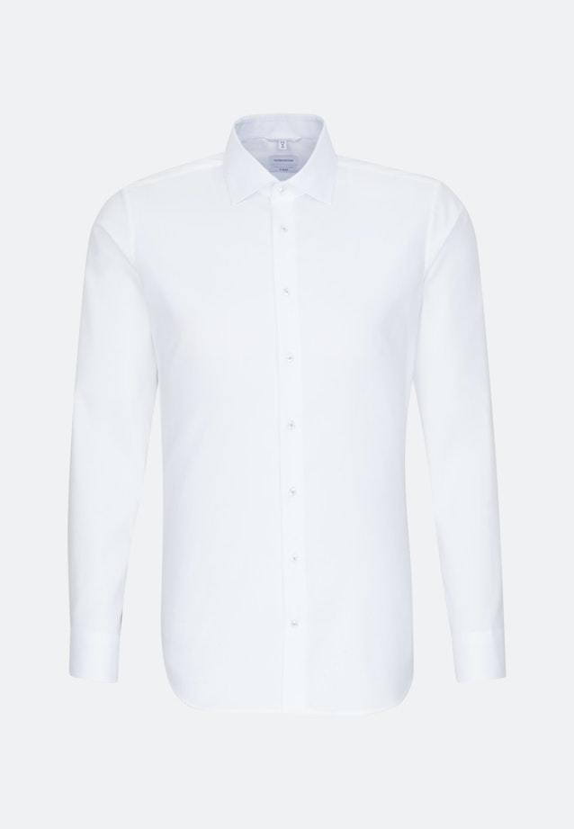 Non-iron Oxford Business Shirt in X-Slim with Kent-Collar in White |  Seidensticker Onlineshop