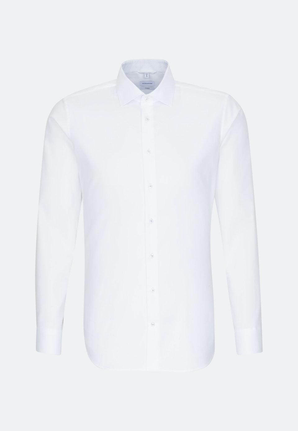 Non-iron Oxford Business Shirt in X-Slim with Kent-Collar in White |  Seidensticker Onlineshop