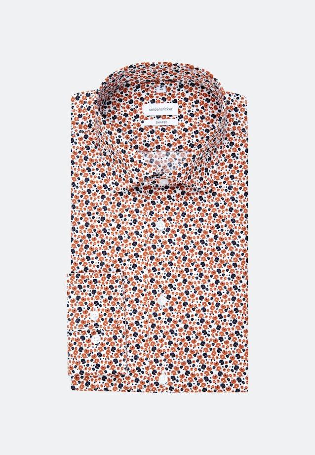 Easy-iron Poplin Business Shirt in Shaped with Kent-Collar in Orange |  Seidensticker Onlineshop
