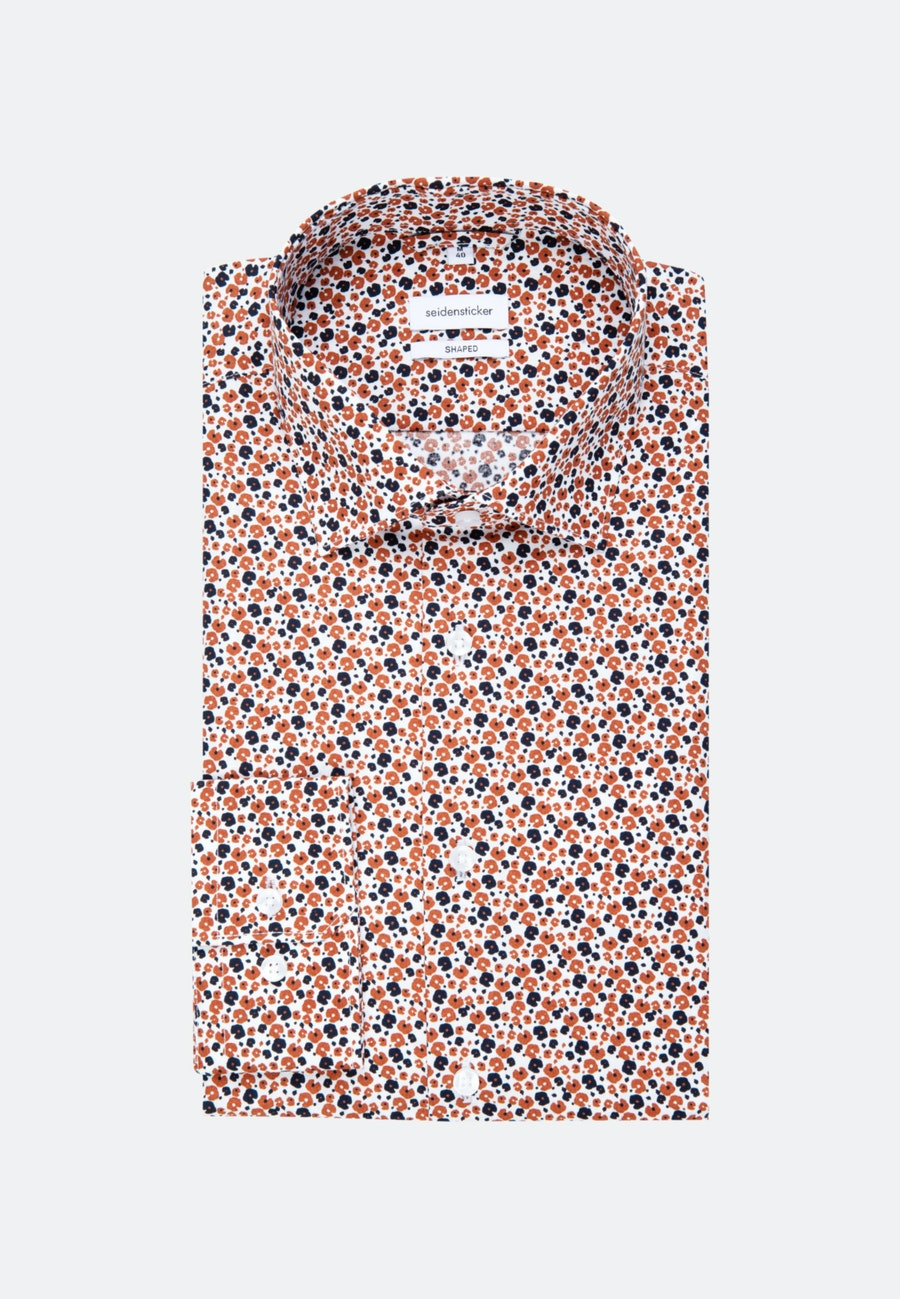 Easy-iron Popeline Business Shirt in Shaped with Kent-Collar in Orange |  Seidensticker Onlineshop
