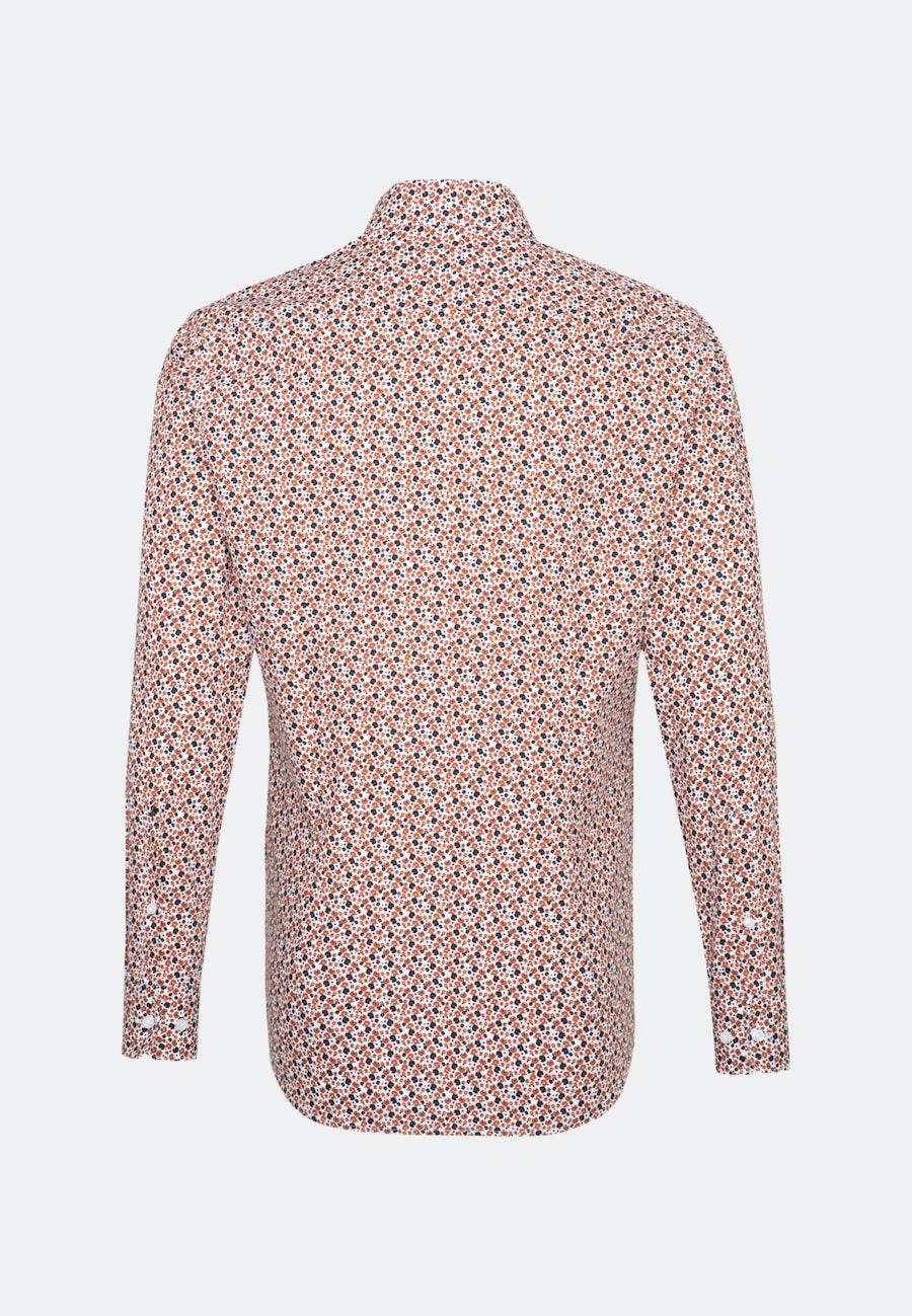 Bügelleichtes Popeline Business Hemd in Slim mit Kentkragen in Orange |  Seidensticker Onlineshop
