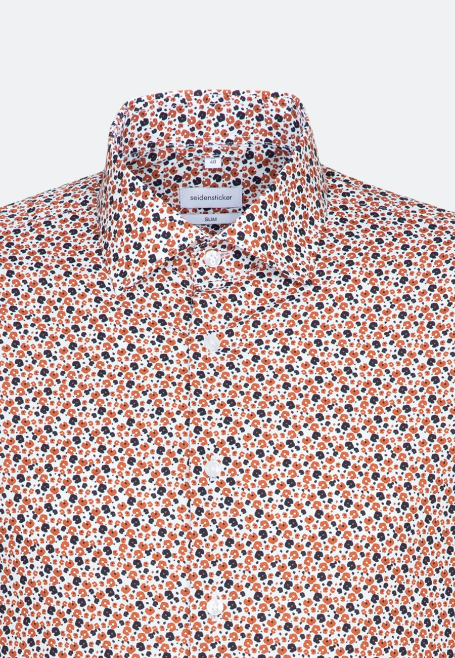 Easy-iron Popeline Business Shirt in Slim with Kent-Collar in Orange    Seidensticker Onlineshop