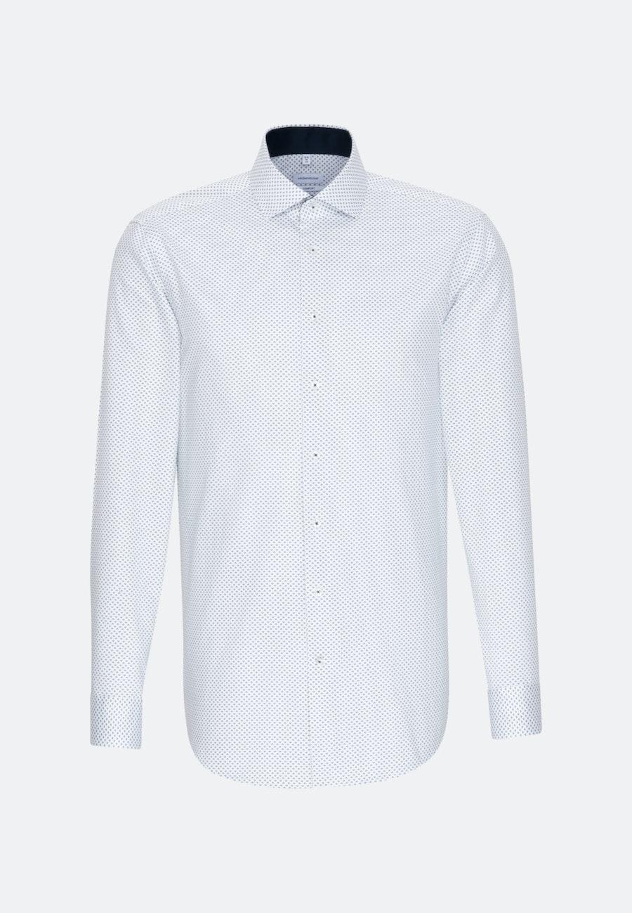 Easy-iron Twill Business Shirt in Comfort with Kent-Collar in Dark blue |  Seidensticker Onlineshop