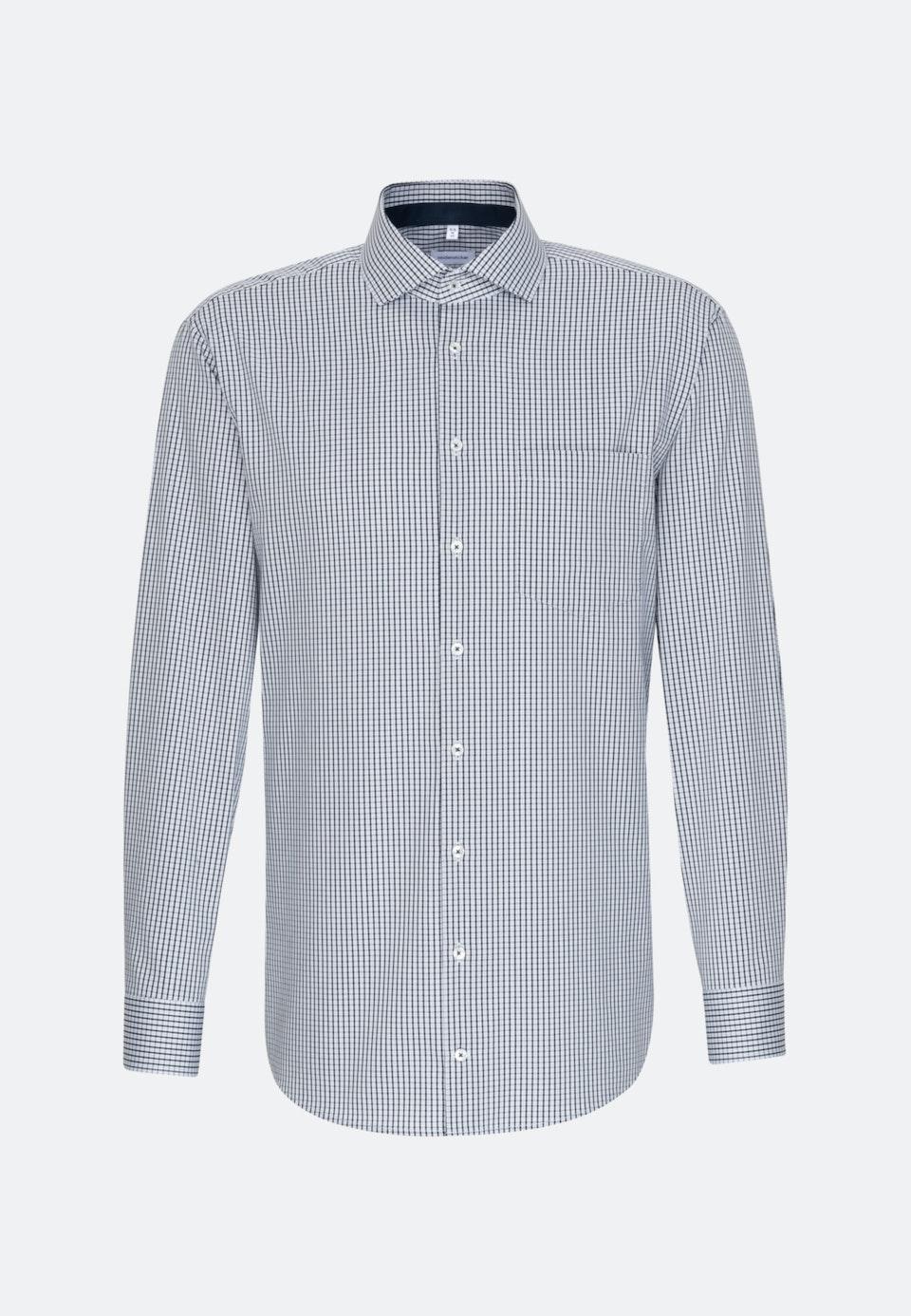 Non-iron Twill Business Shirt in Comfort with Kent-Collar in Dark blue |  Seidensticker Onlineshop