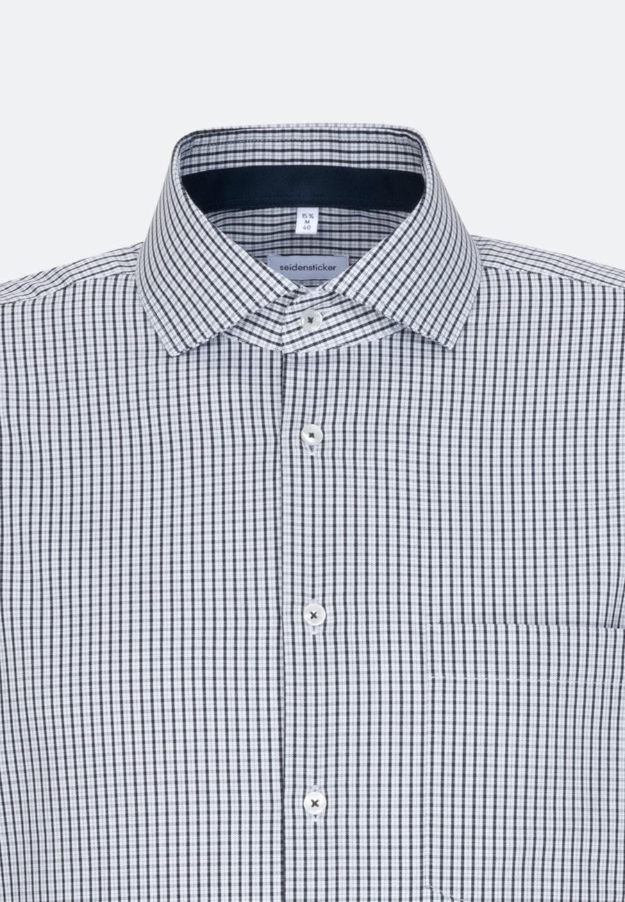 Bügelfreies Twill Business Hemd in Comfort mit Kentkragen in Dunkelblau    Seidensticker Onlineshop
