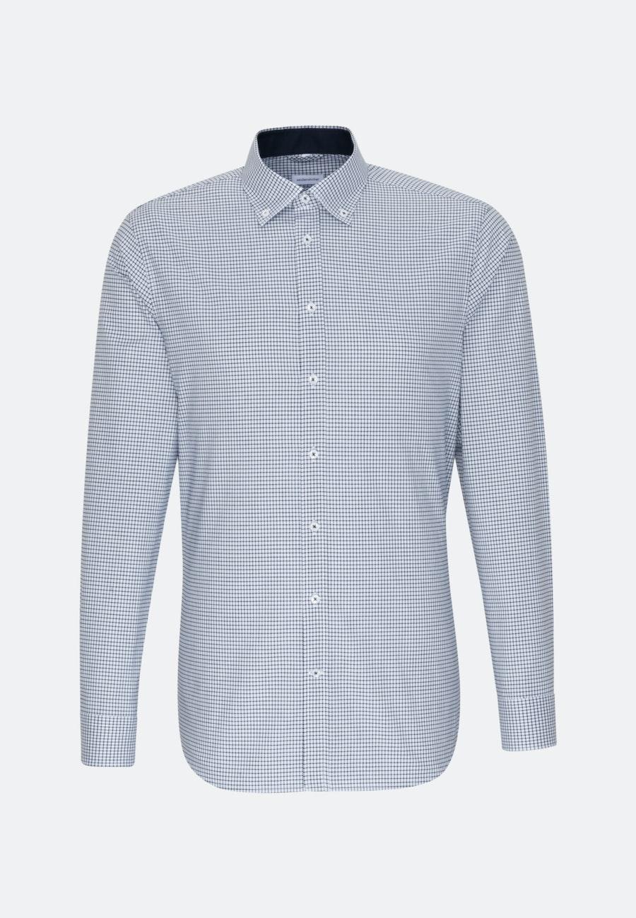 Non-iron Popeline Business Shirt in Shaped with Button-Down-Collar in Dark blue    Seidensticker Onlineshop