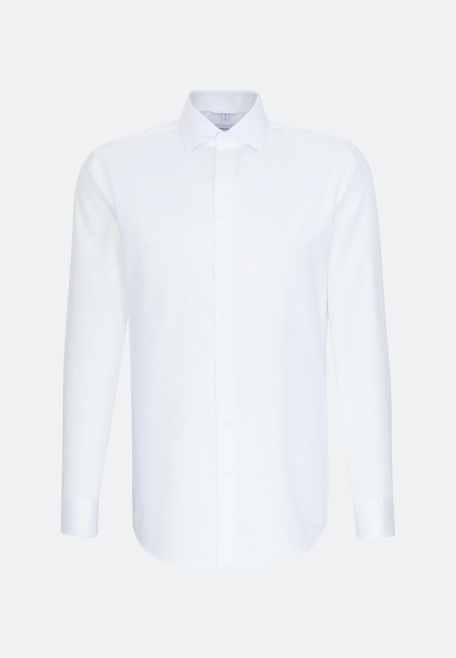 Bügelleichtes Twill Business Hemd in Regular mit Kentkragen in Weiß    Seidensticker Onlineshop