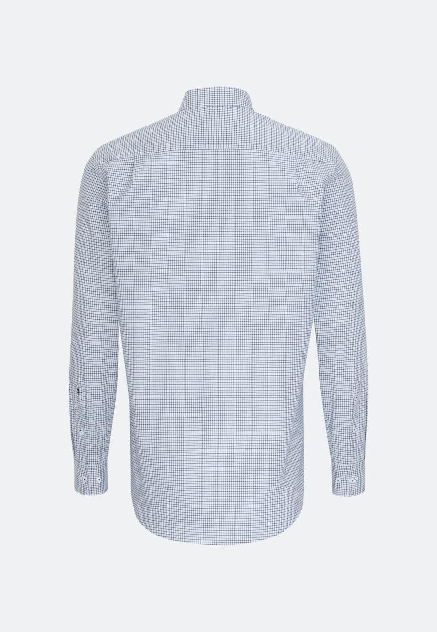 Non-iron Poplin Business Shirt in Regular with Button-Down-Collar in Dark blue |  Seidensticker Onlineshop