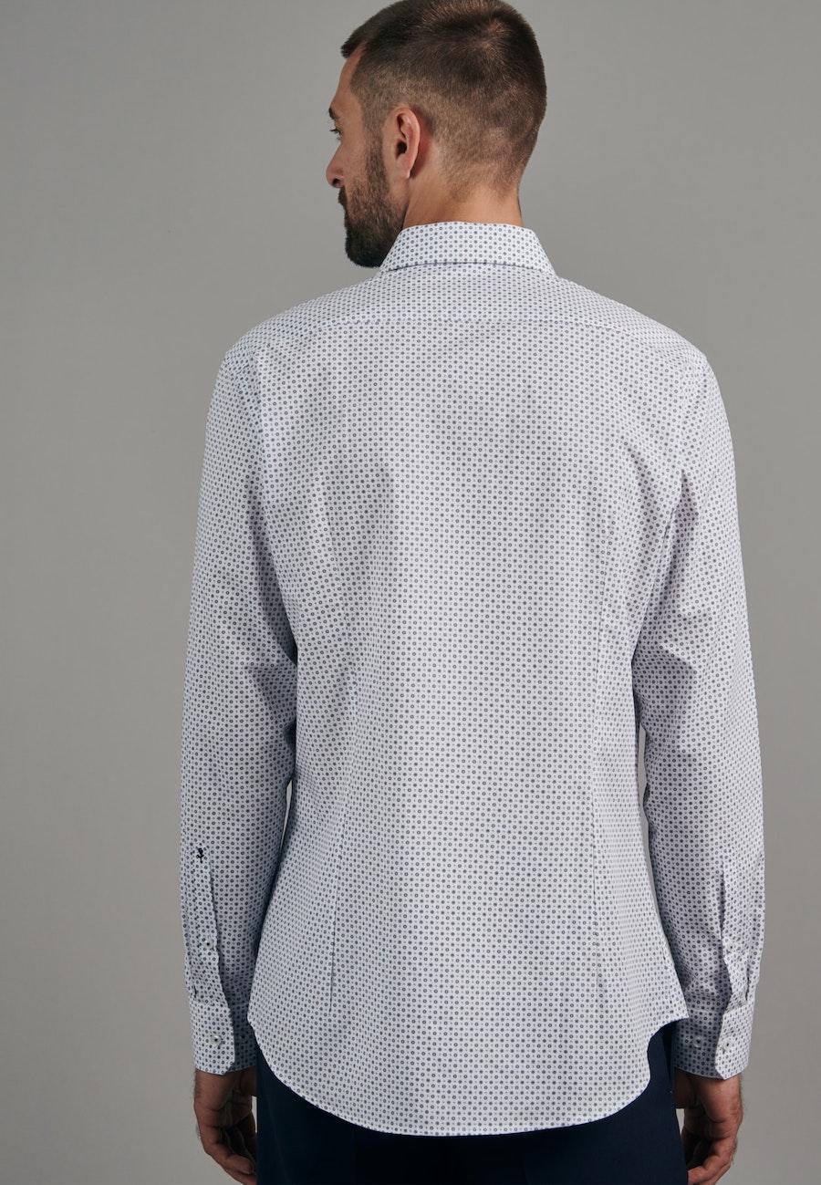 Easy-iron Popeline Business Shirt in Shaped with Kent-Collar in Light blue    Seidensticker Onlineshop