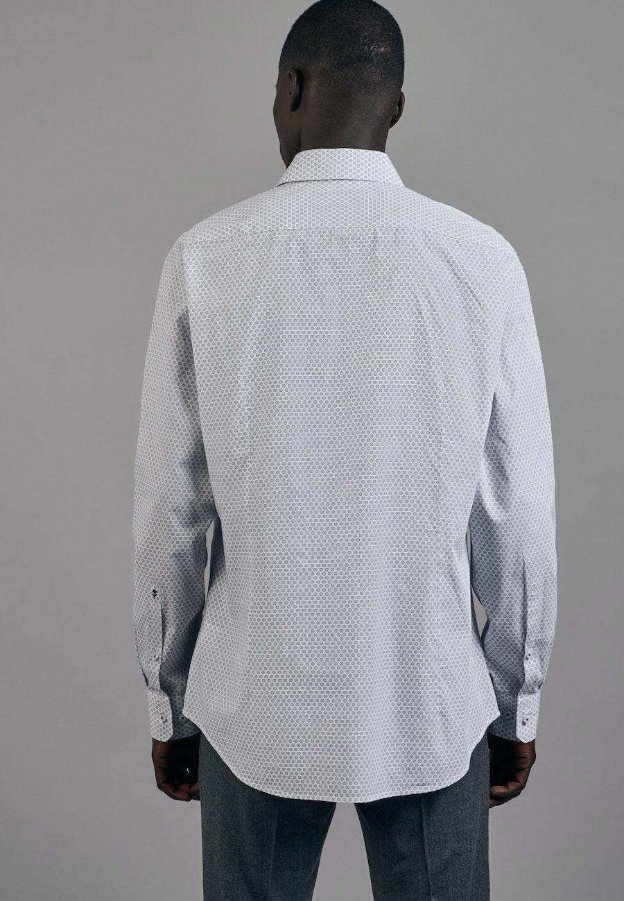 Easy-iron Popeline Business Shirt in Shaped with Kent-Collar in Dark blue    Seidensticker Onlineshop