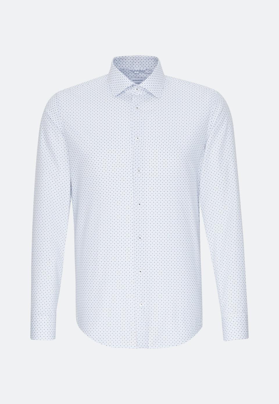Easy-iron Popeline Business Shirt in Regular with Kent-Collar in Light blue    Seidensticker Onlineshop