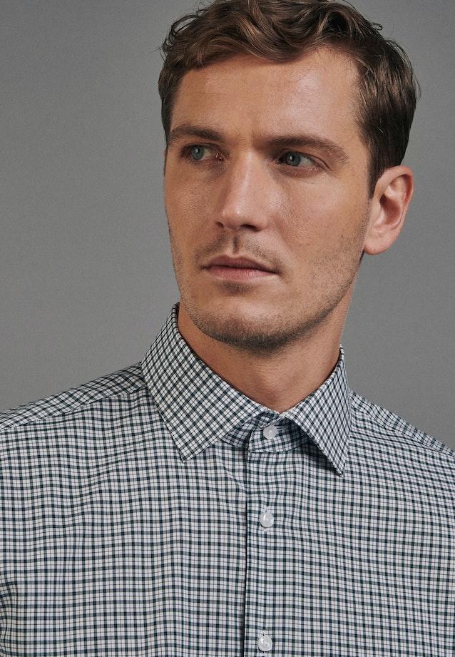 Non-iron Poplin Business Shirt in Shaped with Kent-Collar in Green |  Seidensticker Onlineshop