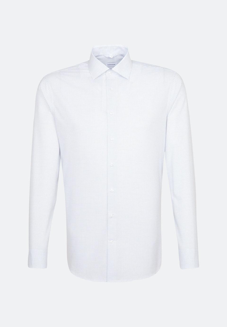 Bügelfreies Popeline Business Hemd in Slim mit Kentkragen in Mittelblau    Seidensticker Onlineshop