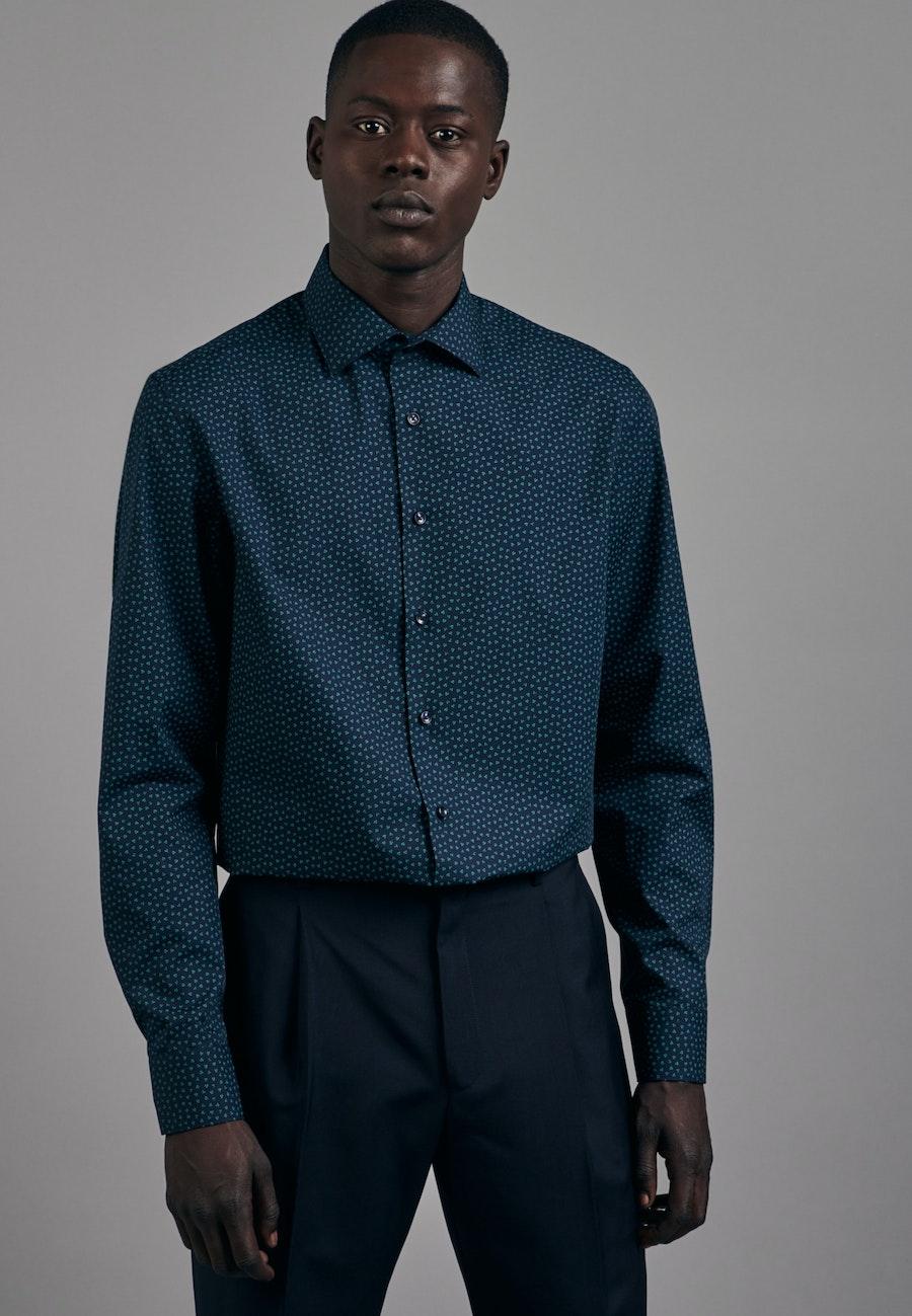 Easy-iron Popeline Business Shirt in Slim with Kent-Collar in Green |  Seidensticker Onlineshop