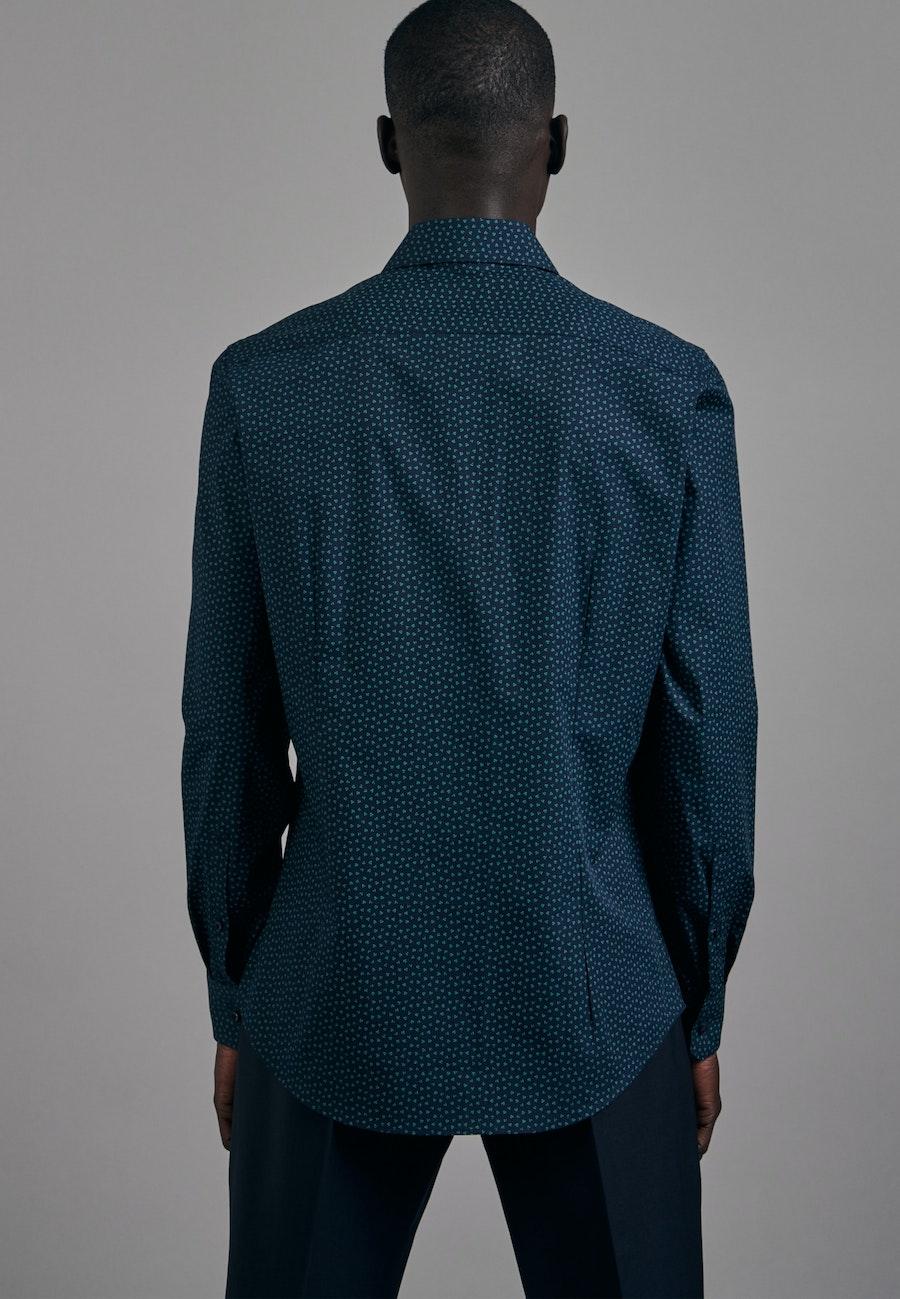 Bügelleichtes Popeline Business Hemd in Slim mit Kentkragen in Grün |  Seidensticker Onlineshop