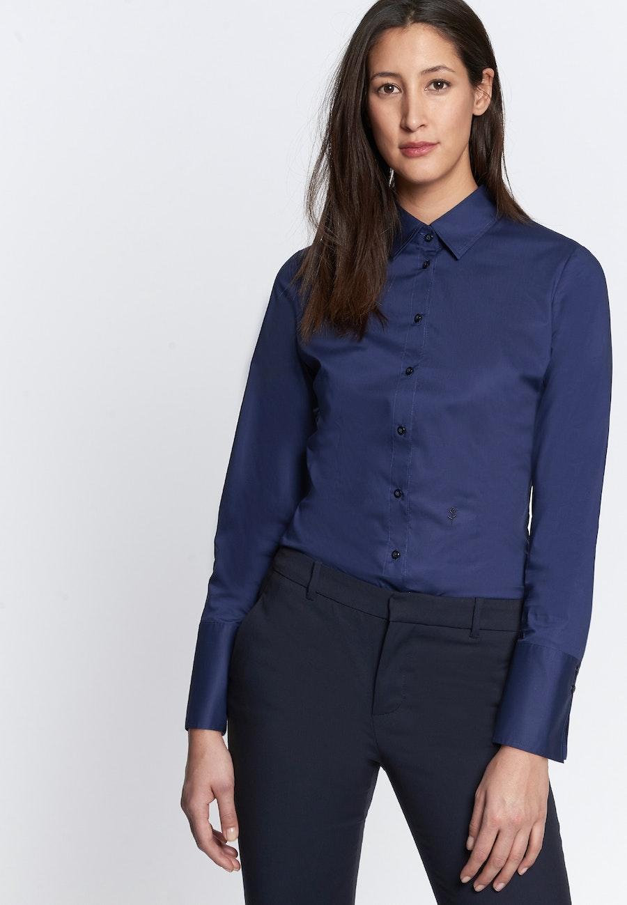 Popeline Body Blouse made of cotton blend in Dark blue |  Seidensticker Onlineshop